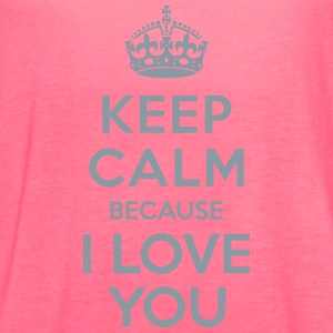 Keep calm I Love you Tanks - Women's Flowy Tank Top by Bella