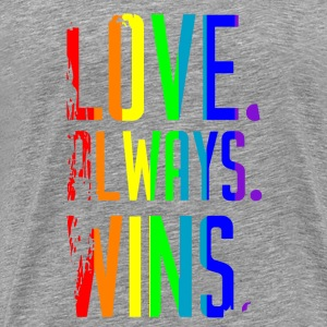 Love Wins Rainbow T-Shirts - Men's Premium T-Shirt