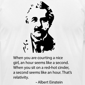Einstein Quote T-Shirts - Men's T-Shirt by American Apparel