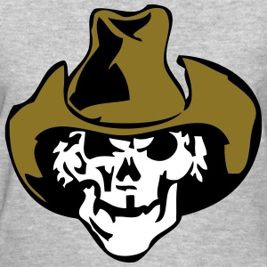 Skull Cowboy Hat Filled T-Shirts - Women's T-Shirt