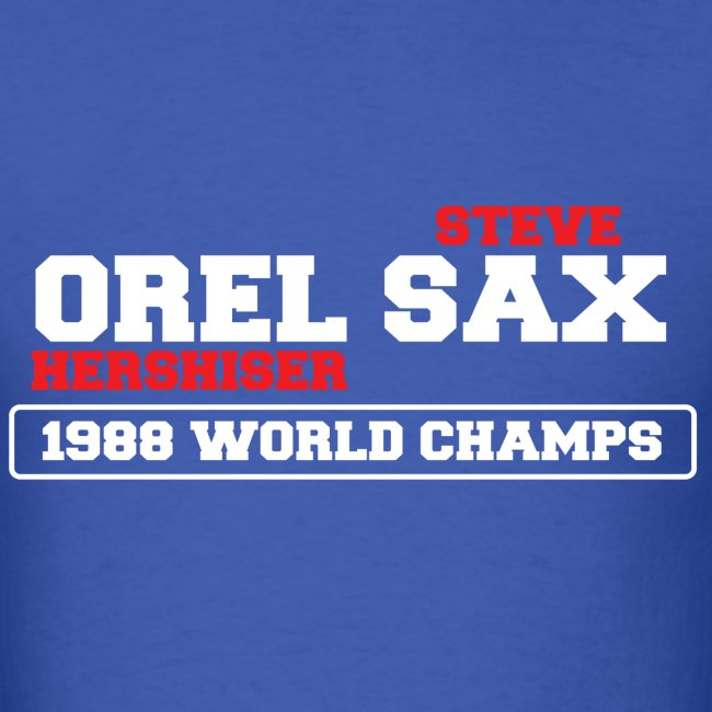 Orel Sax 1988 World Champs