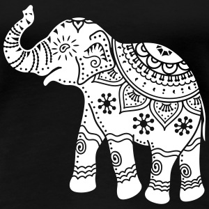 indian elephant Women's T-Shirts - Women's Premium T-Shirt
