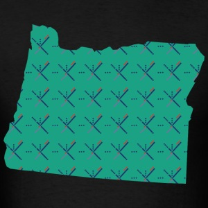Portland Airport carpet Oregon map - Men's T-Shirt