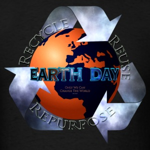 Earth Day Change The World T-Shirts - Men's T-Shirt