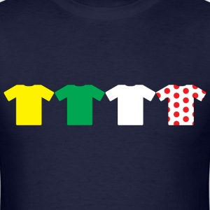 Jerseys of the Tour De France T-Shirts - Men's T-Shirt