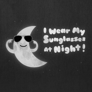 Funny Moon - I Wear My Sunglasses At Night Bags & backpacks - Tote Bag