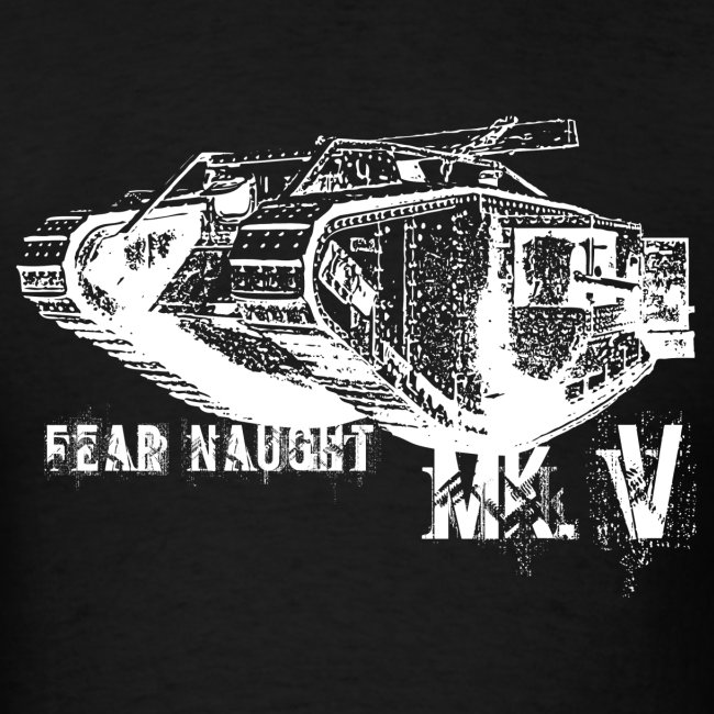 The British WWI Mk.V tank T-shirt.