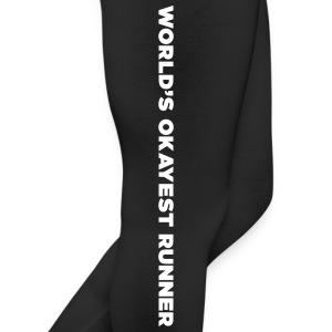 World's Okayest Runner funny runner Quote Bottoms - Leggings by American Apparel