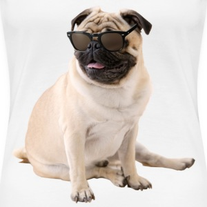 The Shady Pug (Color) - Women's Premium T-Shirt