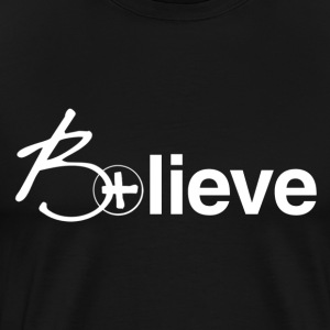 B+lieve (men white) - Men's Premium T-Shirt