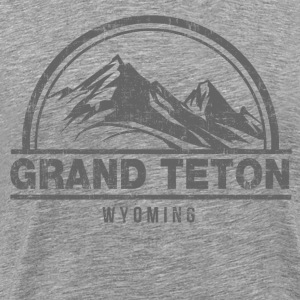 Grand Teton Wyoming T-Shirts - Men's Premium T-Shirt