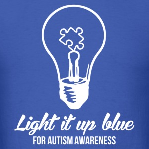 Light It Up Blue T-Shirts - Men's T-Shirt