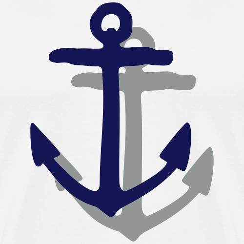 Anchor Shadow Sail Design (Two Color Vector)