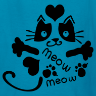 Design ~ meow meow cat Kids' T-Shirt