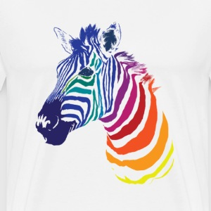 Zebra Color T-Shirts - Men's Premium T-Shirt