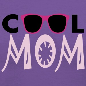 Cool Mom, 3 Color Vector Women's T-Shirts - Women's V-Neck T-Shirt