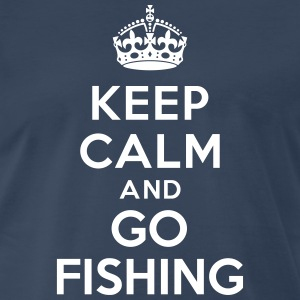 Keep calm and go fishing T-Shirts - Men's Premium T-Shirt
