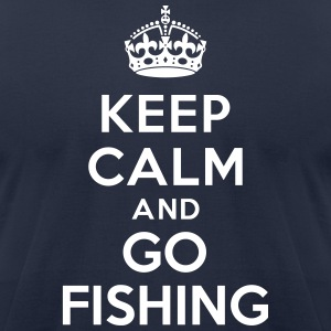 Keep calm and go fishing T-Shirts - Men's T-Shirt by American Apparel