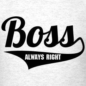BOSS + (YOUR OWN TEXT) MEN T-SHIRT BASEBALL STYLE - Men's T-Shirt