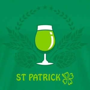 St Patrick Binge Drinking (1c) Irish green T-Shirt - Men's Premium T-Shirt