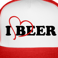 Design ~ I Love Beer Trucker Cap