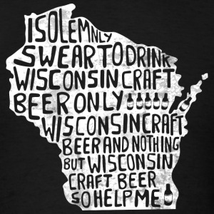 Wisconsin Solemnly Swear T-Shirts - Men's T-Shirt