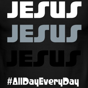 Jesus all day everyday - Men's Ringer T-Shirt