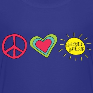 Peace, Love, Summer Break | Cool Shirts for Kids - Kids' Premium T-Shirt