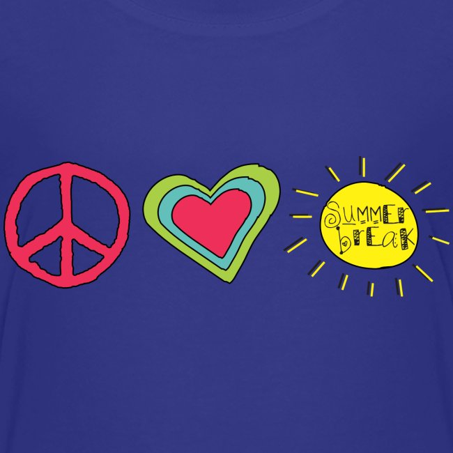 Peace, Love, Summer Break   Cool Shirts for Kids