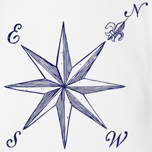 Compass Rose  - Short Sleeve Baby Bodysuit