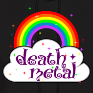 Design ~ death metal rainbow and cloud stars cute funny