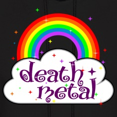 death metal rainbow and cloud stars cute funny