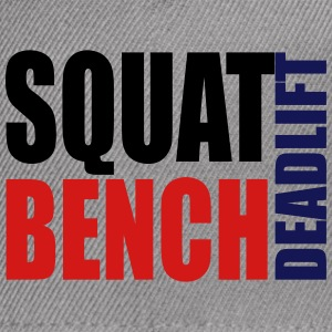 Squat Bench Deadlift - cap2 - Snap-back Baseball Cap