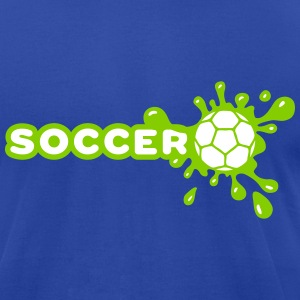 Soccer Splash T-Shirts - Men's T-Shirt by American Apparel