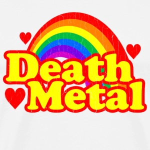Funny Death Metal Rainbow (vintage look) - Men's Premium T-Shirt
