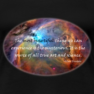 The mysterious: Carl Sagan Quote Women's T-Shirts - Women's Premium T-Shirt