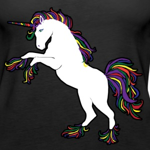 Rainbow retro 80s Unicorn - Women's Premium Tank Top