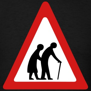 Elderly Crossing Sign T-Shirts - Men's T-Shirt