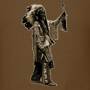 Vintage Native American Indian Illustration - Men's T-Shirt