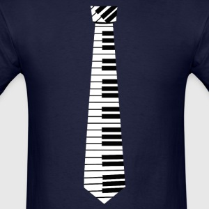 Piano Key Neck Tie (1) - Men's T-Shirt
