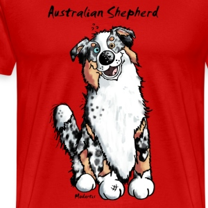 Happy Australian Shepherd T-Shirts - Men's Premium T-Shirt