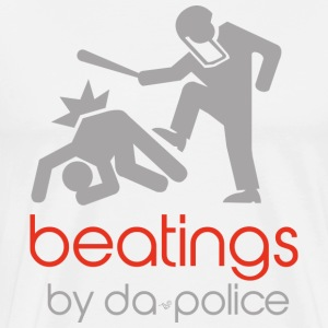 POLICE BEATINGS by Tai's Tees - Men's Premium T-Shirt