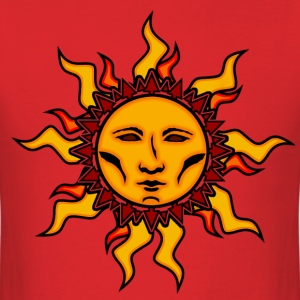 Sublime Sun #2 Vibrant Tribal Psychedelic Characte - Men's T-Shirt