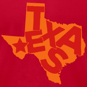 Texas typo maps T-Shirts - Men's T-Shirt by American Apparel