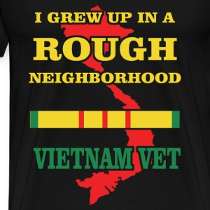 Veterans T-shirt - I grew up in a rough neighbor - Men's Premium T-Shirt