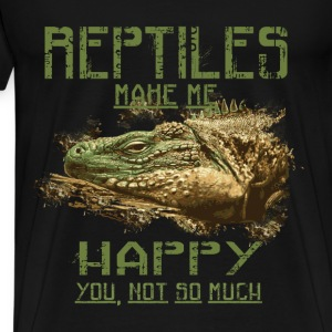 Reptiles T-shirt - Reptiles make me happy - Men's Premium T-Shirt