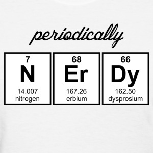 Periodically Nerdy Element Symbols Women's T-Shirts - Women's T-Shirt