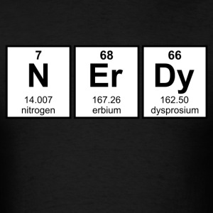 Periodically Nerdy Element Symbols T-Shirts - Men's T-Shirt