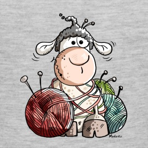 Funny Sheep With Wool Ball Baby & Toddler Shirts - Baby Contrast One Piece