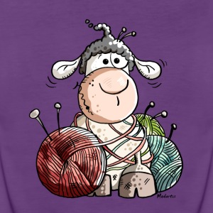 Funny Sheep With Wool Ball Tanks - Women's Premium Tank Top